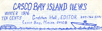 Casco Bay Island Development Association Newsletter