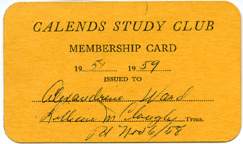 The Calends Study Club (Peaks Island literary society), 1950 - 1977