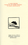 A Fair House : Versions of Irish Poetry by John Montague by John Montague