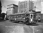 Trolley Car on Monument Square, 1938