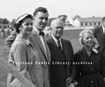 President Eisenhower visits Skowhegan.