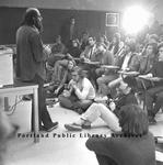 Poet Allen Ginsburg Visits University of Maine at Portland.