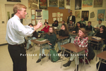 Governor Angus King Teaching at Portland High School.