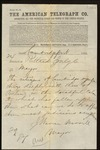 Telegram from the Mayor of Cambridgeport, Mass. by J. Warren Merrill