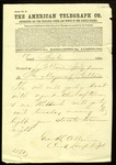 Telegram from the Clerk of the Boston Lamp Department by Geo. H. Allen
