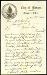Letter from the Mayor of Bangor to the Mayor of Portland by A. G. Wakefield