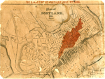 The Great Fire at Portland, July 4, 1866 : Plan of Portland.