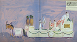 """Painted Sketch for """"Admitting Maine to the Union, 1820"""" Parade Float by Joseph A. Damon"""