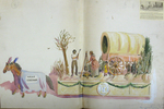 "Painted Sketch for ""Pioneers of Arookstook"" Parade Float by Joseph A. Damon"