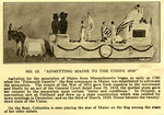 "Program description for ""Admitting Maine to the Union"" Float by Maine Centennial Committee"