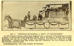 "Program Excerpt: ""Popham Building a Fort at Sagadahoc"" Parade Float"