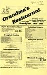 Grandma's Restaurant, 1987 by Grandma's Restaurant