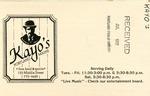 Kayo's, 1982 by Kayo's Fine Food and Spirits
