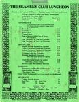 Seamen's Club Restaurant, 1982 by Seamen's Club Restaurant