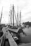 Schooner Harvey Gamage, at OpSail 2000. by Abraham A. Schechter