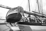 Detail of schooner Harvey Gamage, Portland harbor.