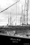 Sailing ships in Portland harbor, OpSail 2000. by Abraham A. Schechter