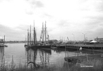 Sailing ships near Maine State Pier, OpSail 2000. by Abraham A. Schechter
