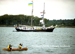 Sailing ship, the Bat'Kivshchyna at OpSail 2000, Portland Harbor.