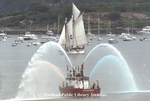 Portland Fire Department Fireboat at OpSail 2000. by Gordon Chibroski