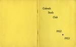 Calends Study Club : 1952 - 1953.