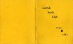 Calends Study Club : 1954 - 1955.
