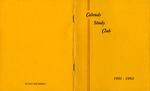 Calends Study Club : 1961 - 1962.