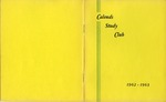 Calends Study Club : 1962 - 1963.