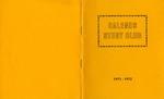 Calends Study Club : 1971 - 1972.