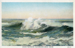 Ocean Tide Waves, Old Orchard Beach, Maine. by C. T. American Art, publisher