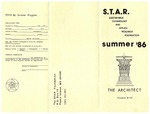 STAR Foundation - Summer 1986 program broadside by STAR Foundation