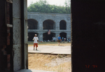 Fort Gorges Enclosure, with Group of Visitors.