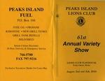 Peaks Island Lions Club : 61st Annual Variety Show