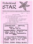 Peaks Island Star : April 1987, Vol. 7, Issue 4 by Service Agencies of the Island