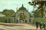 Entrance to Greenwood Garden, Peaks Island, 1914.