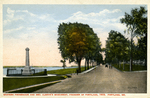 Eastern Promenade and George Cleeve's Monument, founder of Portland, 1633.