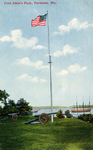 Fort Allen Park, with flag pole.