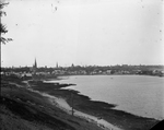 Back Cove, View of Bayside from Tukey's Bridge (Including Cathedral of the Immaculate Conception, Pre-1908 City Hall)