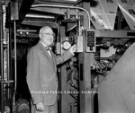 Guy P. Gannett Switching on New Presses, 1948.