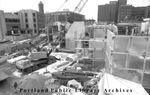 Portland Museum of Art construction site, 1981