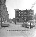 Spring Street during E.T. Burrowes demolition, 1971