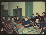 Women Making Braided Rugs by Woman's Literary Union